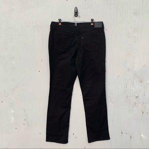 Levis 505 Straight Black Denim Jeans